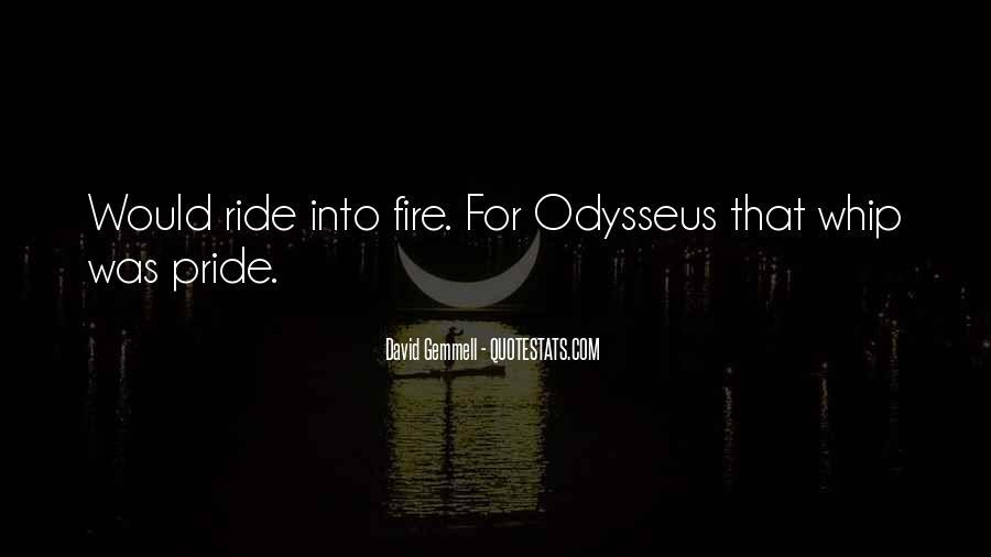 Quotes About Odysseus Pride #101389