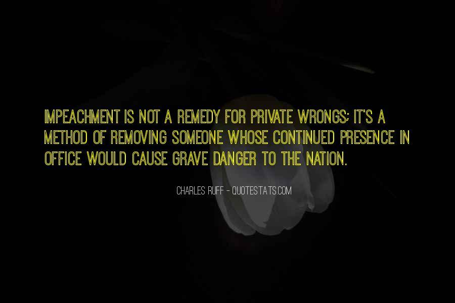 Quotes About Impeachment #378033