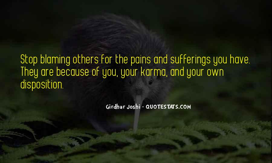 Quotes About Blaming Someone #224018
