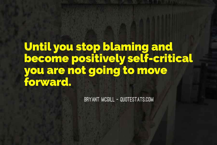 Quotes About Blaming Someone #64094