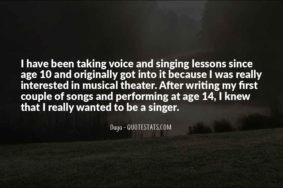 Quotes About Singing And Performing #617617