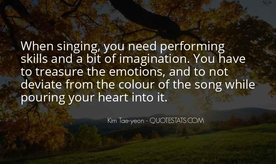 Quotes About Singing And Performing #896345