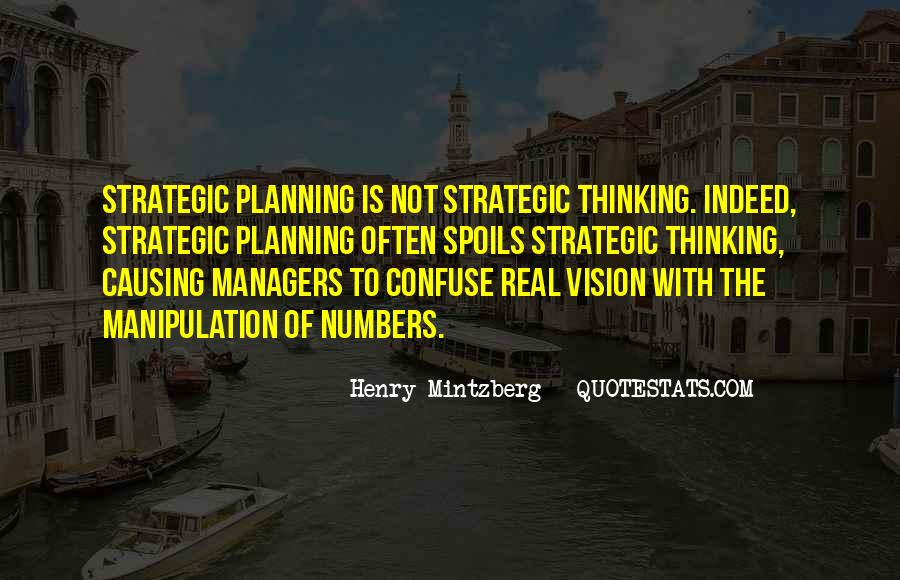 Quotes About Strategic Planning #491924