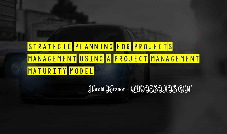 Quotes About Strategic Planning #872350