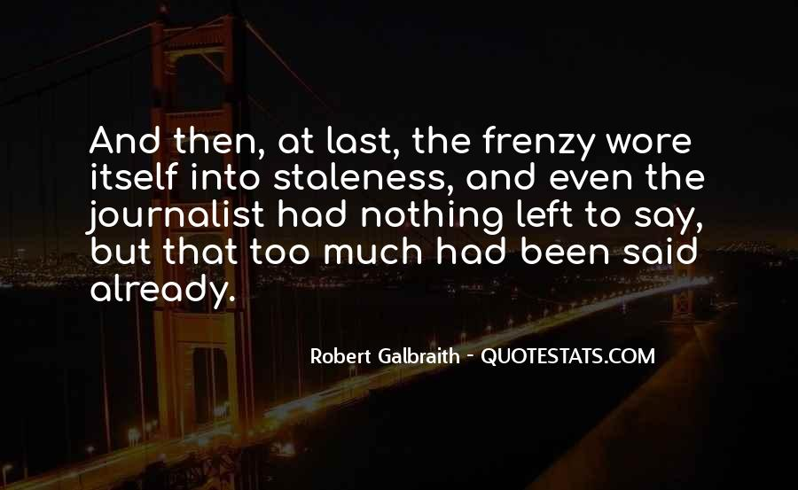 Quotes About Frenzy #788736