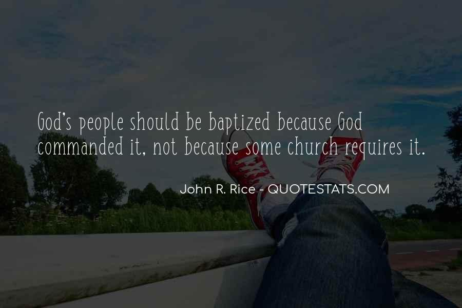 Quotes About Baptized #592221