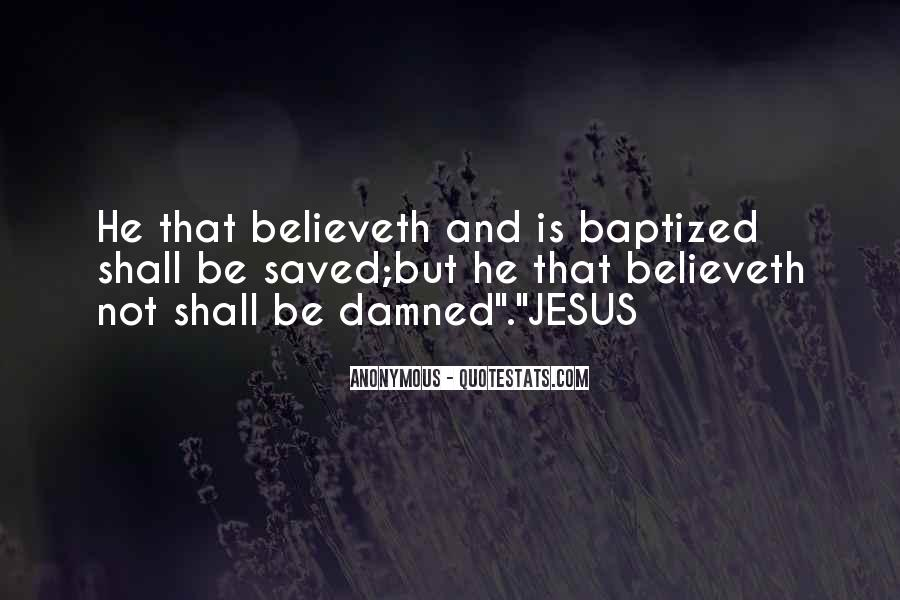 Quotes About Baptized #743311