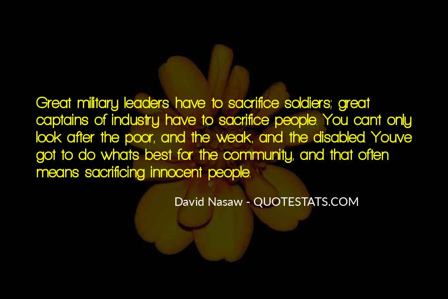 Quotes About Military Sacrifice #1585396