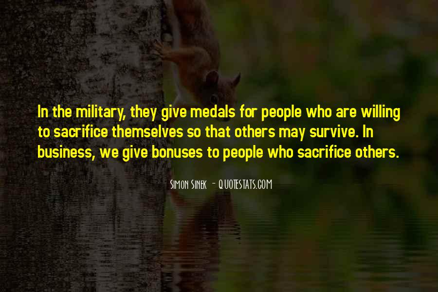 Quotes About Military Sacrifice #740470