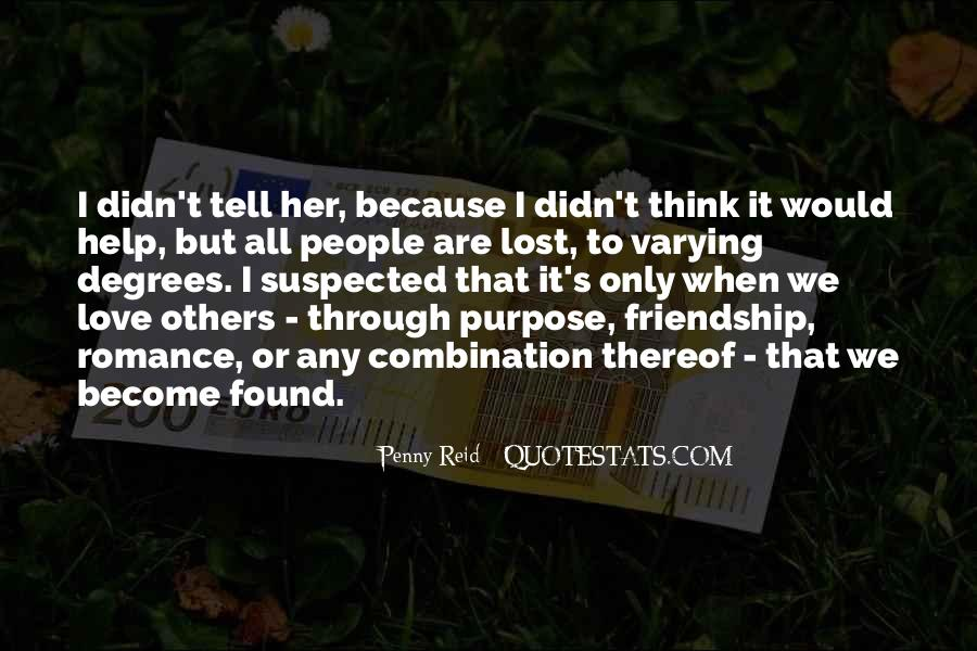 Quotes About Lost Love And Friendship #803533