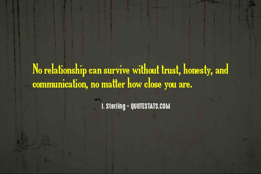 Quotes About Honesty And Trust In A Relationship #429784
