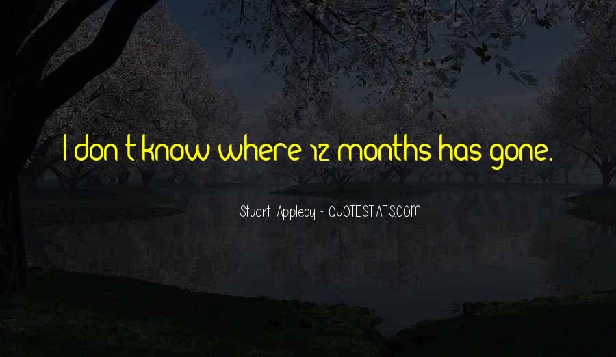 Quotes About 12 Months #160329