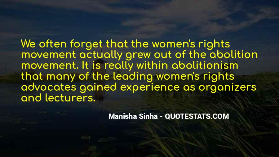 Quotes About Women's Rights Movement #1187034