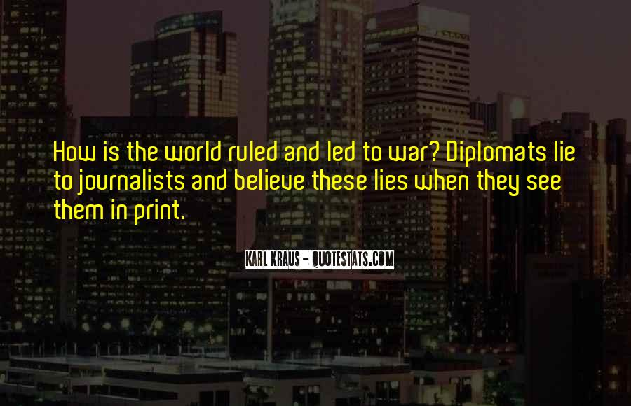 Quotes About Diplomats #1048208