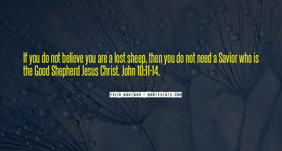 Quotes About Jesus As The Good Shepherd #1366771
