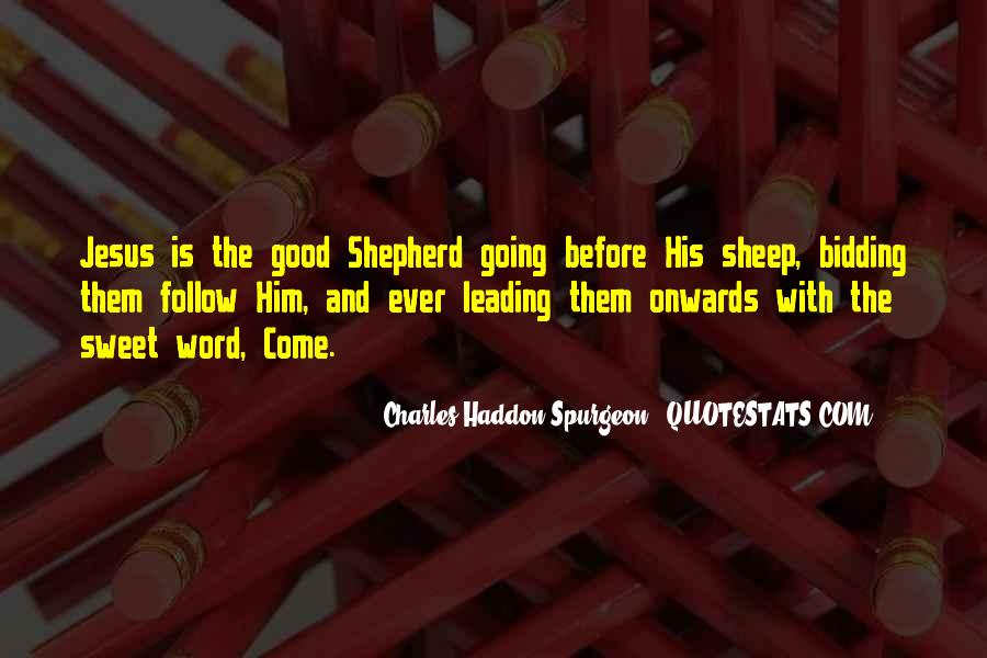Quotes About Jesus As The Good Shepherd #680917