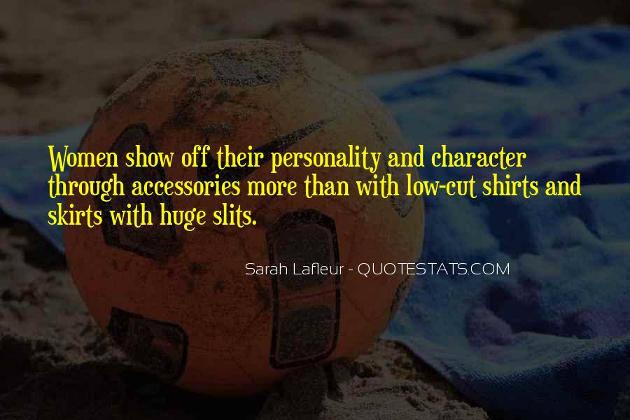 Quotes About Character And Personality #155305