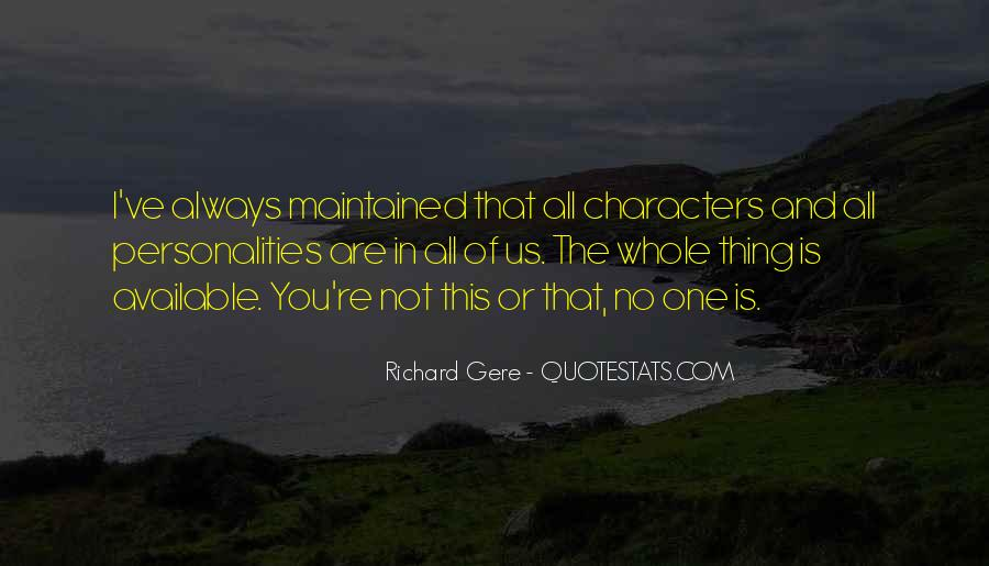 Quotes About Character And Personality #313867