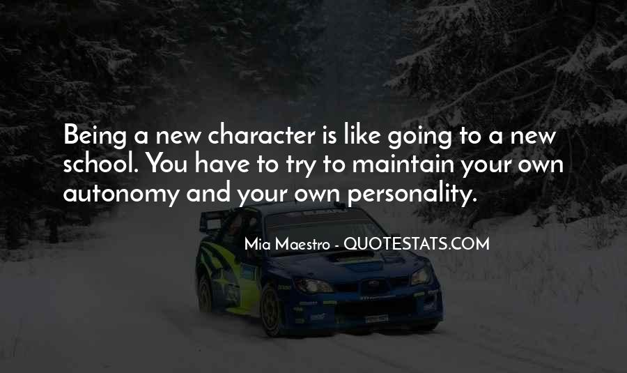 Quotes About Character And Personality #864476