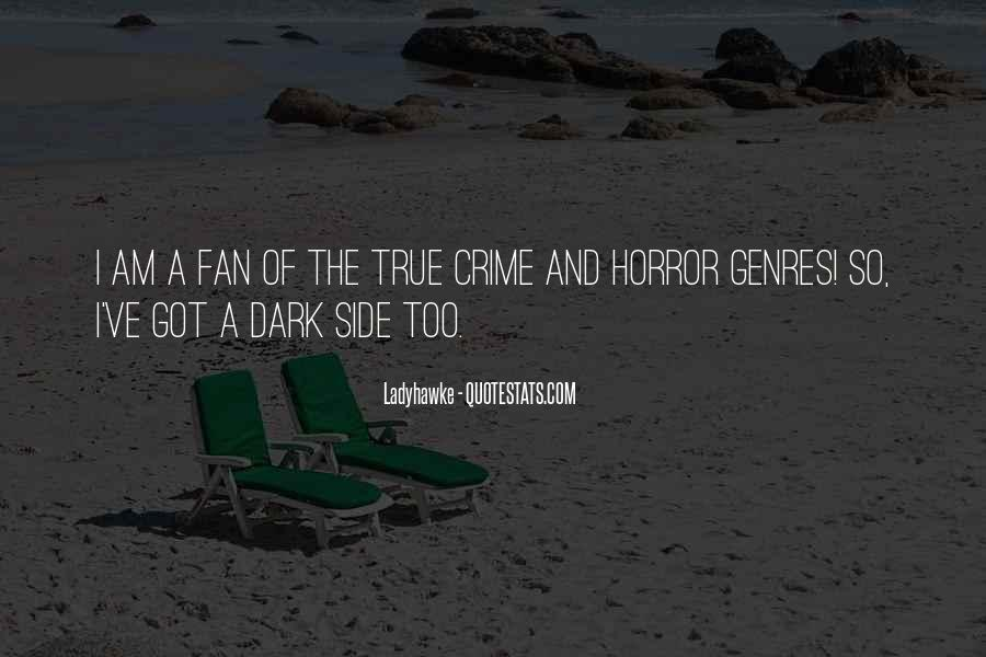 Quotes About Crime Genre #1062612