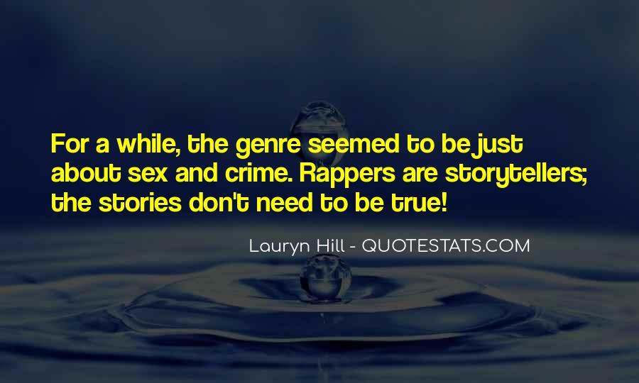 Quotes About Crime Genre #1244505