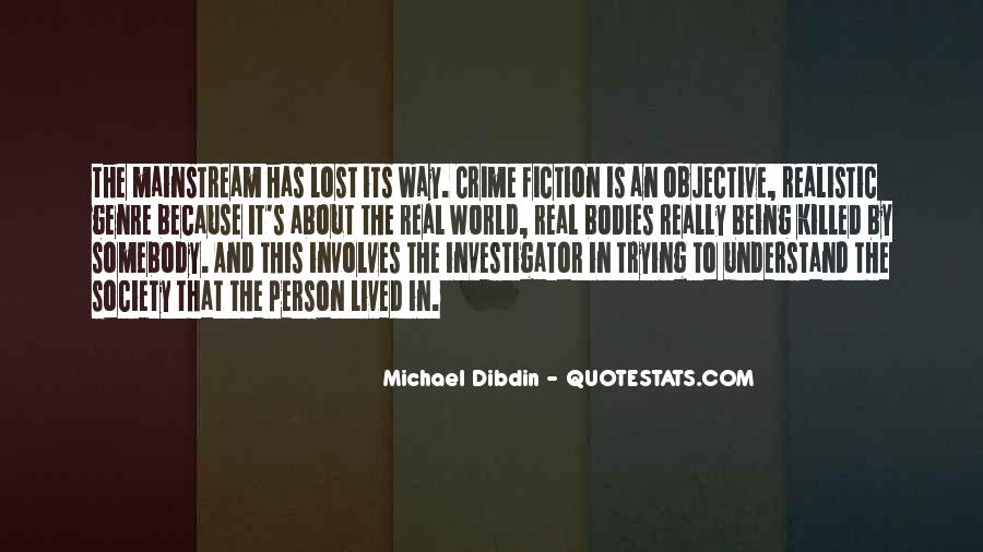 Quotes About Crime Genre #1875680