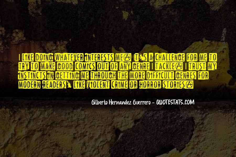 Quotes About Crime Genre #362169