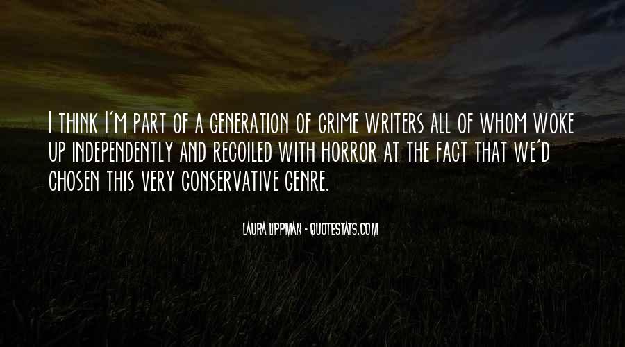Quotes About Crime Genre #919830