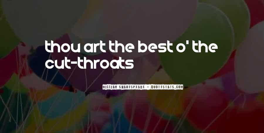 Quotes About Cut Throats #1320977