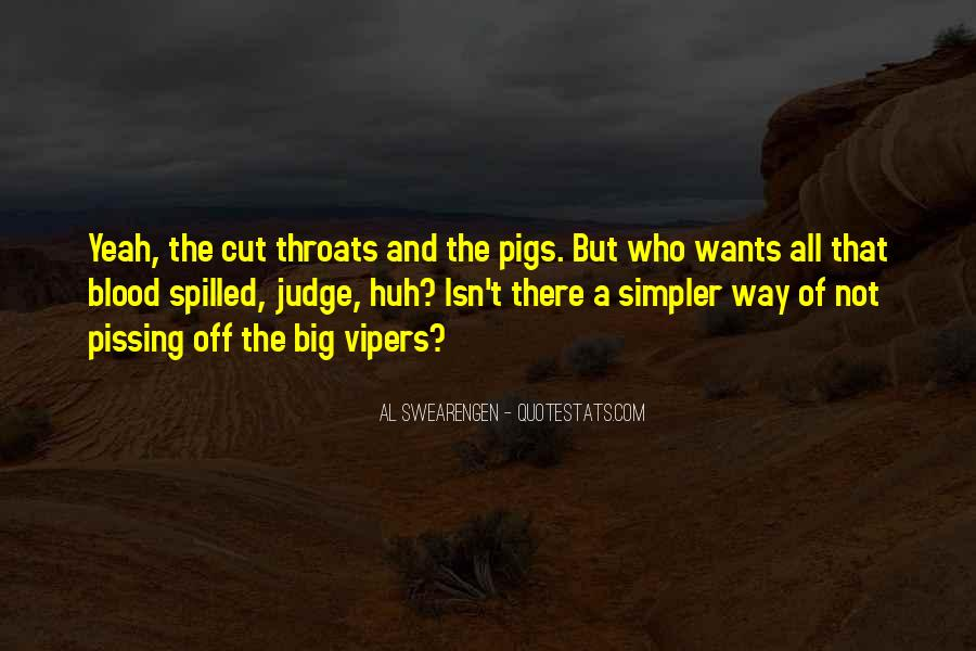 Quotes About Cut Throats #616850