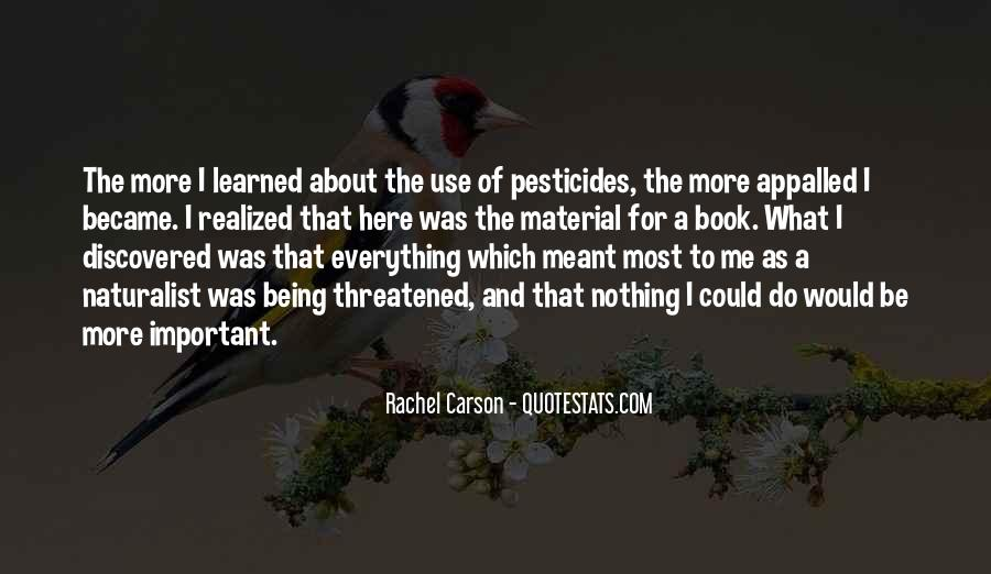 Quotes About Pesticides #665067