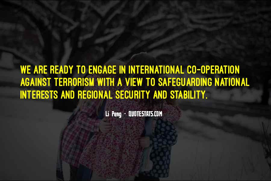 Quotes About National Security And Terrorism #1059724