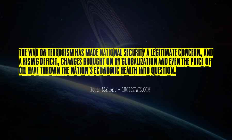 Quotes About National Security And Terrorism #1318970