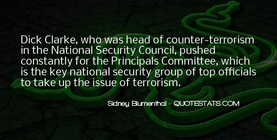 Quotes About National Security And Terrorism #1574821