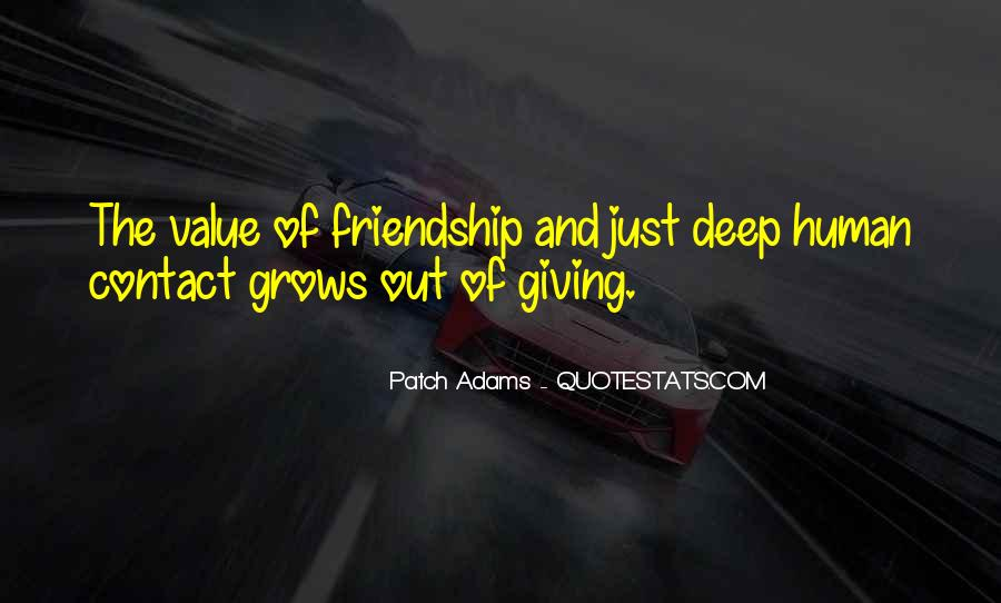 Quotes About The Value Of Friendship #1686246