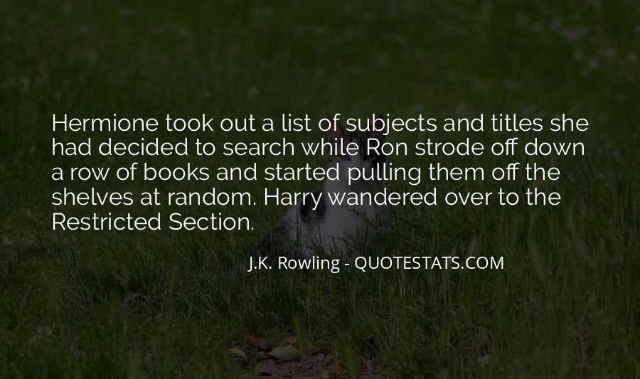 Quotes About Hermione And Ron #1077036
