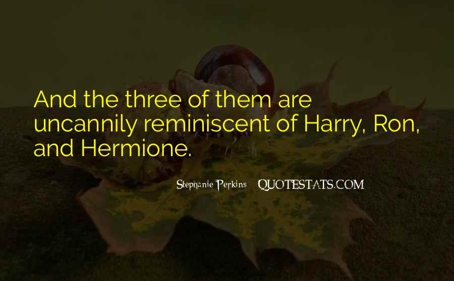 Quotes About Hermione And Ron #1274705