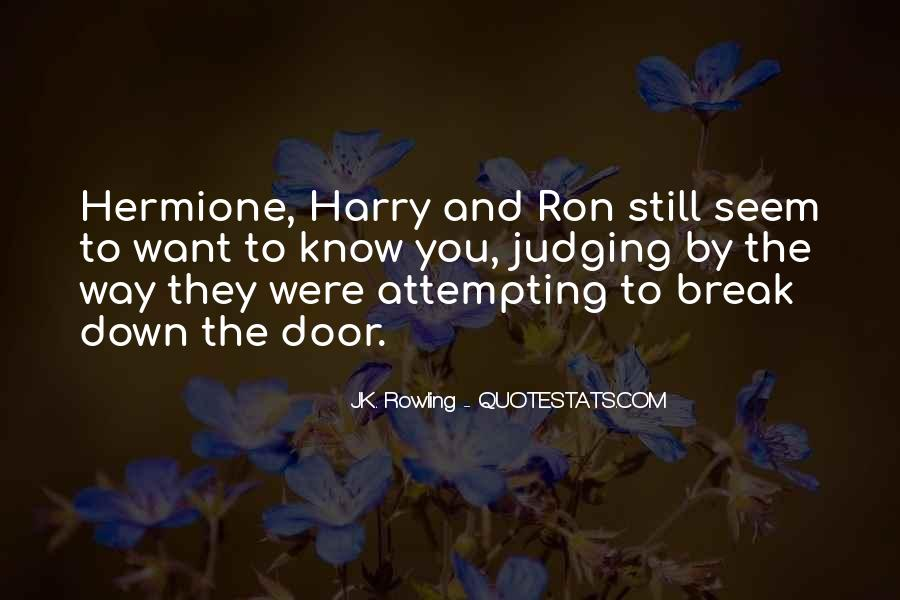 Quotes About Hermione And Ron #1397000