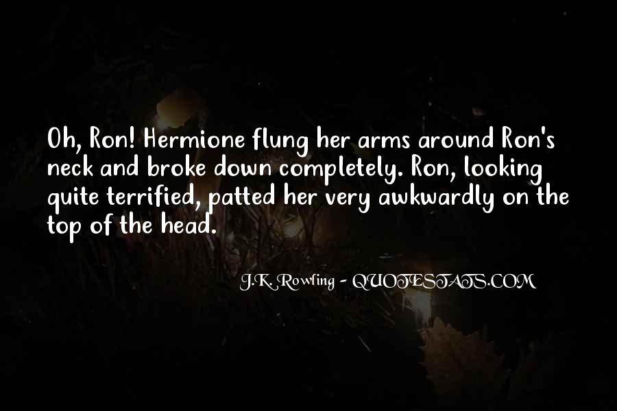 Quotes About Hermione And Ron #1878444
