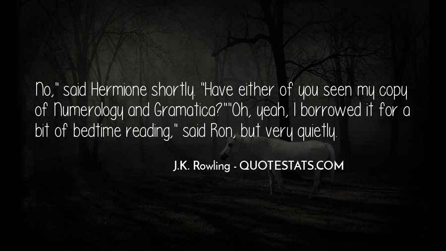 Quotes About Hermione And Ron #542506