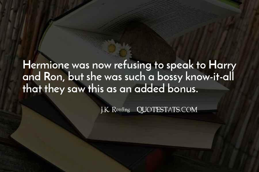 Quotes About Hermione And Ron #870986