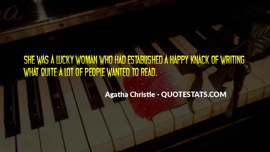Quotes About Agatha Christie Writing #1268349