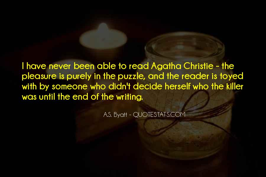 Quotes About Agatha Christie Writing #1427295