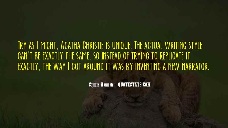 Quotes About Agatha Christie Writing #1471449