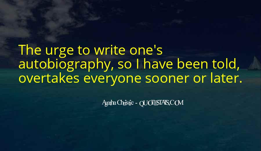 Quotes About Agatha Christie Writing #1811051