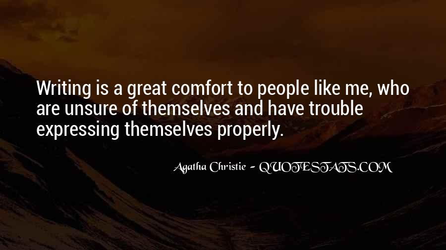 Quotes About Agatha Christie Writing #182814