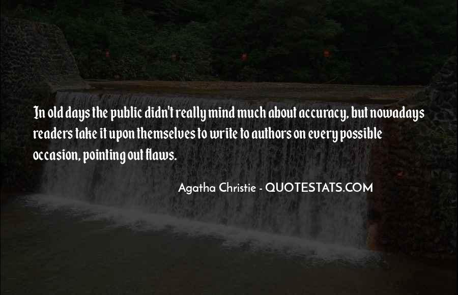 Quotes About Agatha Christie Writing #773266