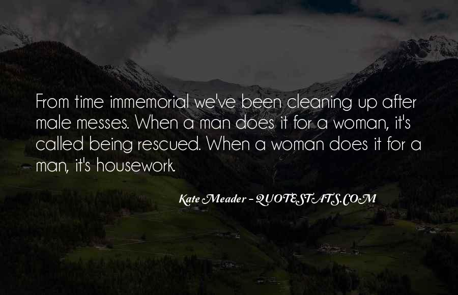 Quotes About Cleaning Up After Yourself #182633