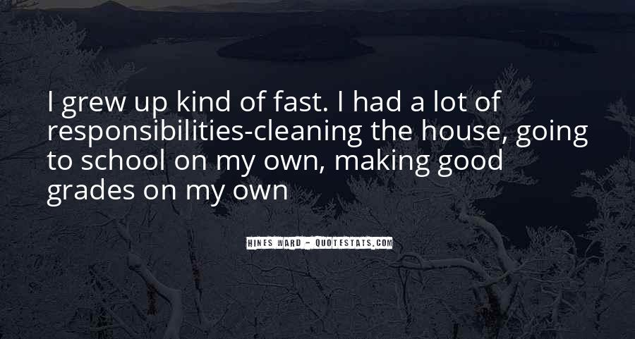 Quotes About Cleaning Up After Yourself #231581