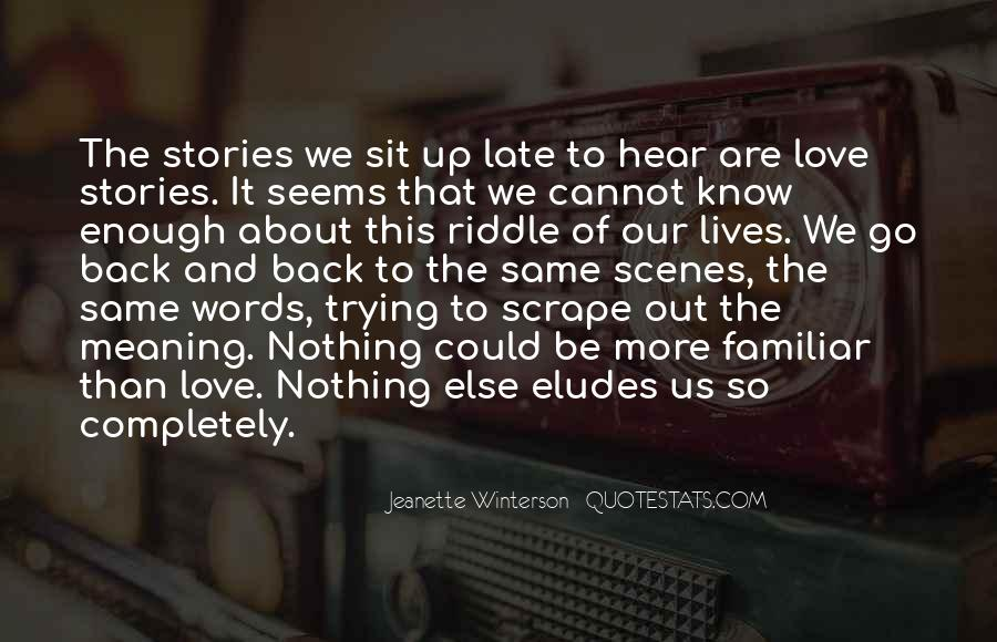 Quotes About Stories Of Love #235046